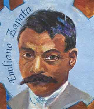 Emiliano zapata in the talking mural la lucha continua in sf for Emiliano zapata mural