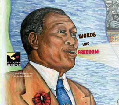 Painting of Paul Robeson on CD cover